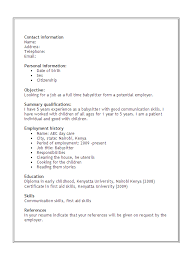 Nanny Job Description Resume Example by Best Nanny Resume Nanny Resume Sample Babysitter Sample Resume