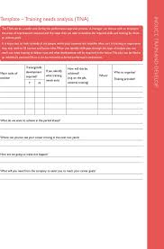 training needs analysis templates download free u0026 premium