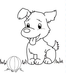 puppy coloring pages for kids dog coloring book 5277