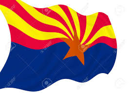 My National Flag Illustration Of Arizona State Flag Waving In The Wind See More