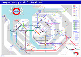 map of the underground in liverpool underground pub crawl map this is an adaptatio flickr