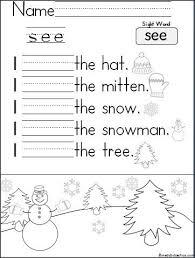 sight word see worksheet worksheets