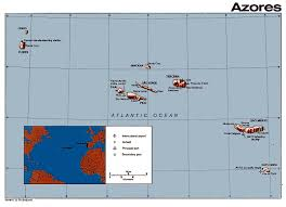 Azores Map Maps Portugal