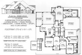 One Level Luxury House Plans Amazing One Story House Plans With 3 Car Garage Contemporary