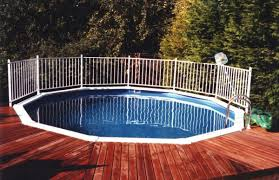 sensational deck kit for round pool with aluminium pool fencing