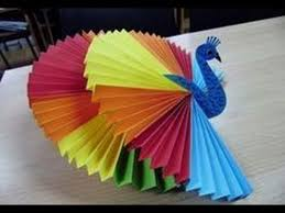 Origami Paper Works - how to make 3d origami peacock activities for craft
