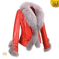 women leather fur jackets cw611205