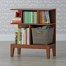 Land Of Nod Bookshelf Sprout Small Walnut Bookcase The Land Of Nod