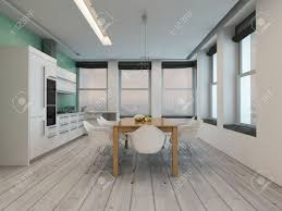modern kitchen dining room design modern kitchen dining room interior with large windows on two