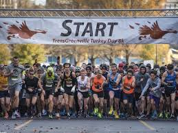 thanksgiving starts with a turkey day race filled with costumes