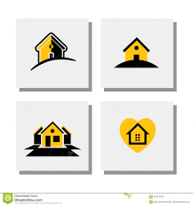 set of logo house or home designs vector icons stock vector