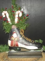 c u0026 c furnishings hand painted santa ice skate primitive