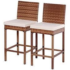 amazon com outdoor interiors 10030 eucalyptus hi back bar chair