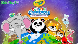 crayola colorful creatures color the animal drawing and