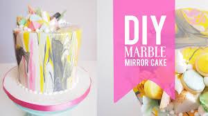 diy marble mirror glaze cake most satisfying mirror cake video