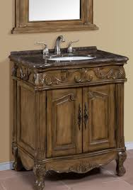 inch brown green single bath vanity with marble top
