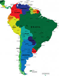 south america map rainforest map of the continent of south america with countries and capitals
