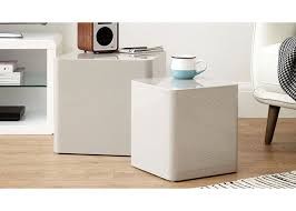 Coffee Table Rounded Edges 30cm Width Coffee Table Rounded Corners Cube White High Gloss