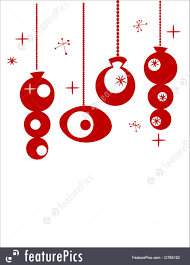 retro christmas ornaments illustration