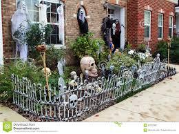 halloween front door decorations stock photo image 62122082