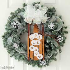 diy wreaths diy winter wreath let it snow crafts unleashed