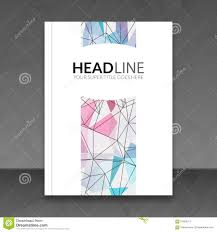 cover report colorful triangle geometric lines prospectus flyer