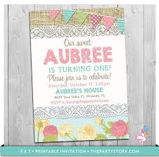 custom invites shabby chic invitation printable burlap and lace birthday