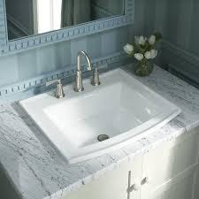 ceramic bathroom sinks pros and cons drop in bathroom sinks incredible k 2356 8 1 0 33 47 kohler archer