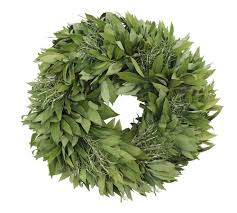 fresh wreaths bay leaf wreaths with rosemary mcfadden farm