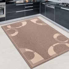 teppich k che viereckig k chenteppiche einfarbig in braun kaffee - Teppich K Che