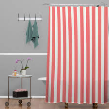 Red White Striped Curtains Red And White Striped Shower Curtains Home Design And Decoration