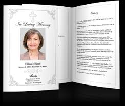 template for funeral program memorial service program sle funeral programs exles for