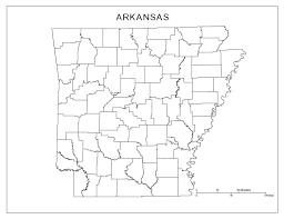 state of arkansas map arkansas blank map