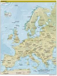 Europe Map Political by Large Detailed Political Map Of Europe With Relief Capitols And