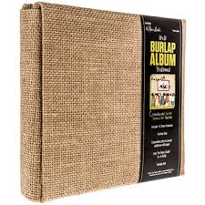 expandable scrapbook post bound burlap scrapbook album 6 x 6 hobby lobby 484964