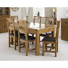 Solid Oak Bedroom Furniture Oslo Solid Oak Dining Table And 4 Black Leather Chairs Ebay Solid
