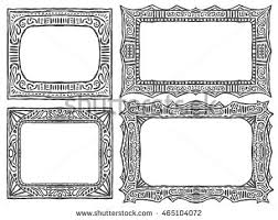 doodle frames set tribal sketch collection stock vector 465104072