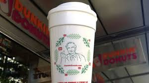 dunkin donuts cup is richard dawkins giving the finger