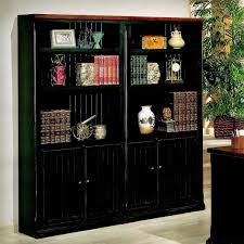 narrow bookcase with doors furniture home black bookcase with doors furniture decor