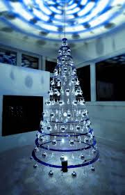 beautiful and modern christmas tree with amazing light effect