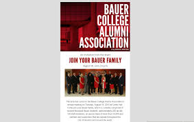 staff meeting invitation email project showcase office of communications bauer college of