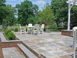 Patio Flagstone Prices Two Level Bluestone Patio Costs