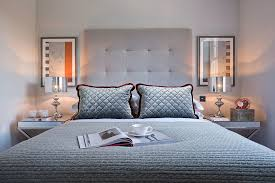 Mirrors Above Nightstands Cable Knit Throw In Bedroom Contemporary With Silver And Blue Next