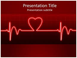 powerpoint templates free download heart ecg heart beat free powerpoint template and background