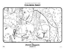 disney pete u0027s dragon coloring mama likes