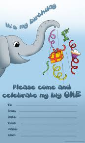 My Birthday Invitation Card Elephant Birthday Invitations U2013 Gangcraft Net