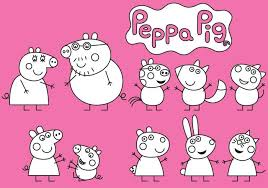 peppa pig coloring download free vector art stock graphics u0026 images