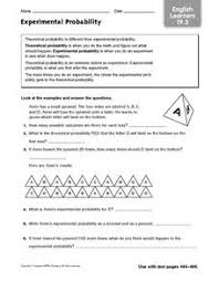Experimental Probability Worksheet Experimental Probability Learners 19 3 6th 7th Grade
