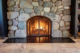freestanding fireplace doors contemporary free standing