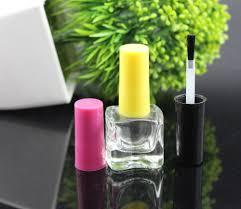 15ml uv white glass nail polish bottles with nail glue brush and